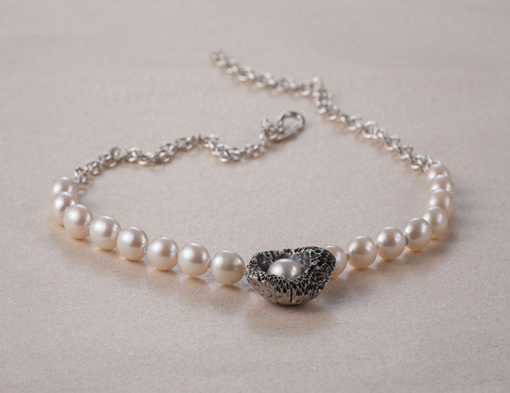 Coral Reef Pearl Necklace Mikela Jewelry