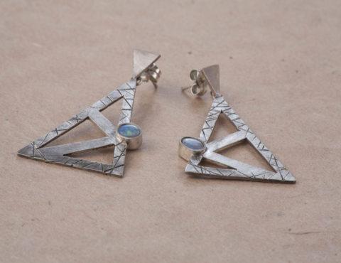 alkimia opal earrings silver