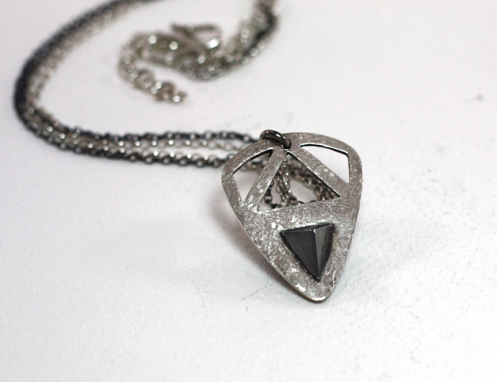 Pyramid pick pendant mikela jewelry pyramid pick pendant aloadofball Image collections