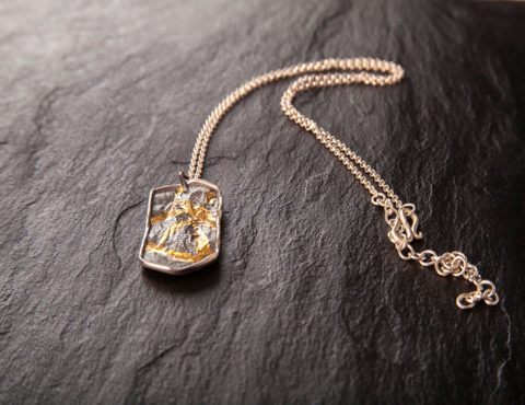 dog tag silver gold pendant 1