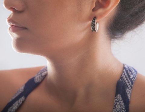 anticlastic bubble earrings 1